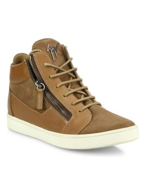 Giuseppe Zanotti leather & suede side-zip sneakers