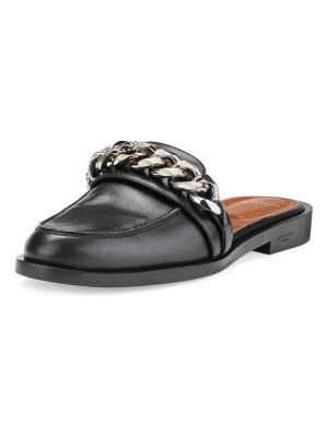 Givenchy Chain Leather Loafer Mule