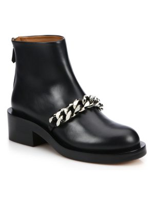 Givenchy chain-trimmed leather booties