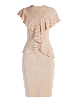 Givenchy Cross-body ruffled knitted dress