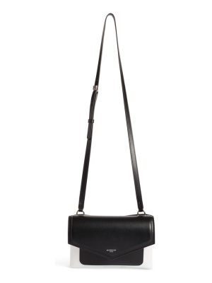 Givenchy duetto bicolor leather flap crossbody bag