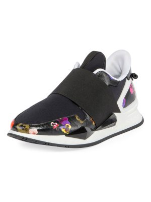 Givenchy Elastic Pansy Floral-Print Runner Sneaker