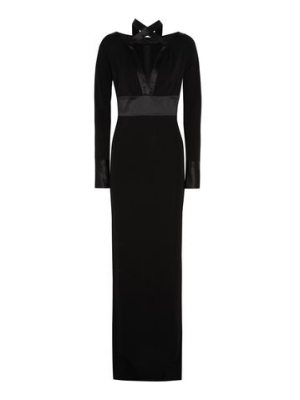 Givenchy gown in  silk-satin and jersey