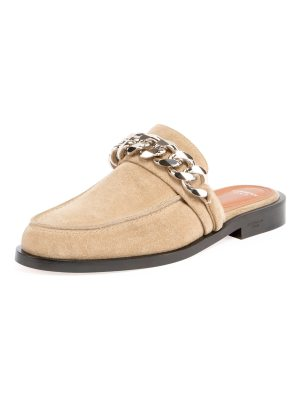 Givenchy Suede Flat Mule Loafer