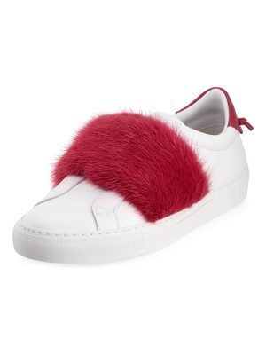 Givenchy Urban Knot Fur-Trim Sneakers