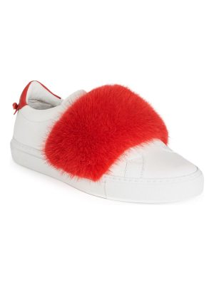 Givenchy urban street mink fur & leather low-top sneakers