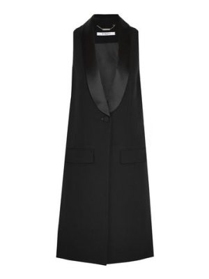 Givenchy vest in  satin-trimmed wool