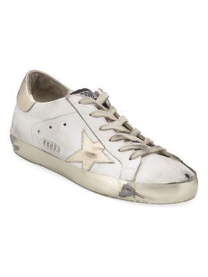 Golden Goose Distressed Leather Star Sneakers