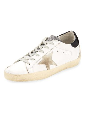 Golden Goose Superstar Glittered Leather Low-Top Sneakers