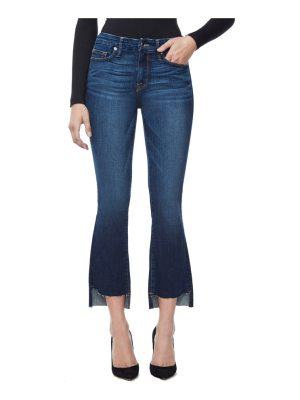 GOOD AMERICAN good boot crop step hem bootcut jeans