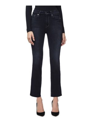 GOOD AMERICAN good straight high waist crop jeans