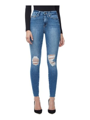 GOOD AMERICAN good waist raw edge skinny jeans