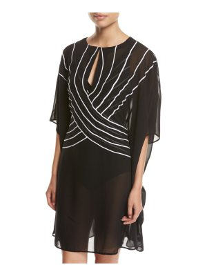 Gottex Embrace Striped Belt Caftan Coverup