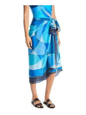 Gottex Kaleidoscope Silk Pareo Coverup