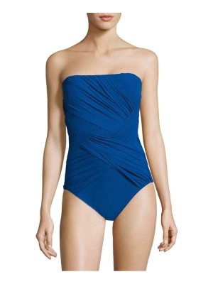Gottex Swim one-piece wrapped bandeau swimsuit