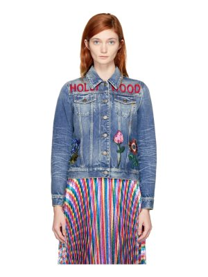 Gucci Denim hollywood Bunny Jacket