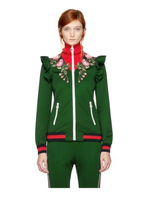 Gucci Embroidered Floral Track Jacket