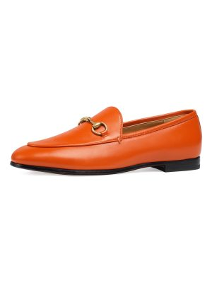 Gucci Flat Jordaan Leather Loafer