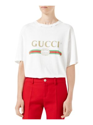Gucci Gucci-Print Cotton Tee