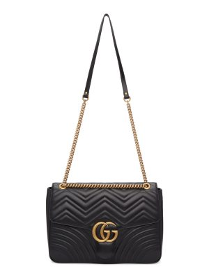 Gucci black large gg marmont 2.0 bag