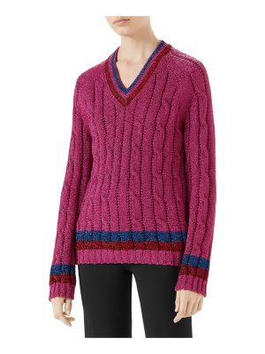 Gucci Lurex® Cable-Knit Sweater