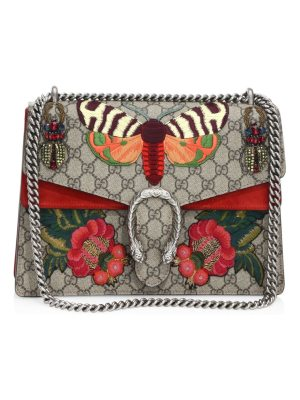 Gucci medium dionysus butterfly-embroidered chain shoulder bag
