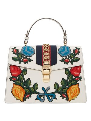 982a831f9312 Gucci Sylvie Medium Top-Handle Satchel Bag With Insect ...