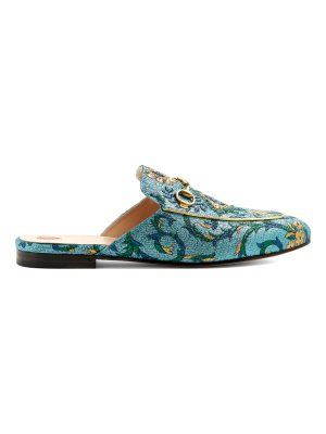 Gucci Princetown jacquard backless loafers