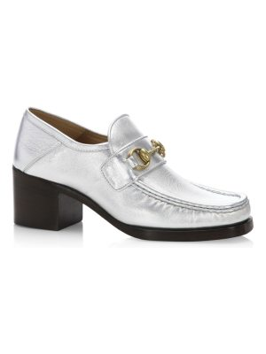 Gucci vegas metallic leather loafer loafers