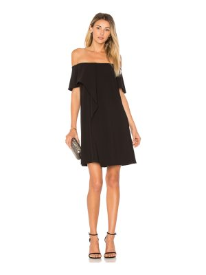 Halston Cold Shoulder Asymmetrical Drape Dress