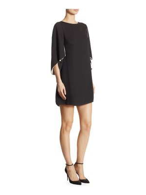 Halston cape sleeve shift dress