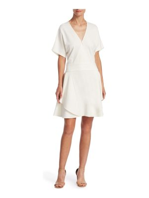 Halston v-neck ponte dress