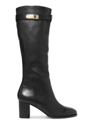 Halston leather boots