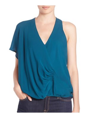 Haute Hippie One-Shoulder Silk Blouse