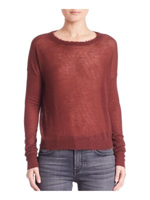 Helmut Lang Cashmere Raw-Edge Sweater