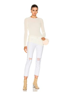 Helmut Lang Crepe Drawstring Pullover Sweater