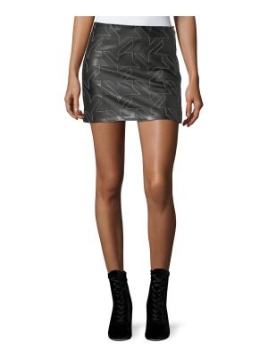 Helmut Lang Houndstooth Leather Mini Skirt