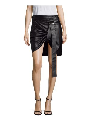 Helmut Lang shayne leather wrap mini skirt