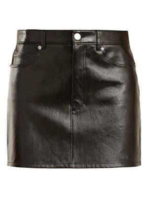 Helmut Lang Stretch-leather mini skirt