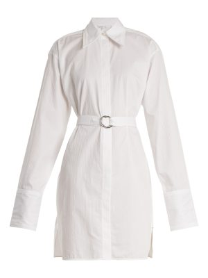Helmut Lang Striped tie-waist cotton shirtdress
