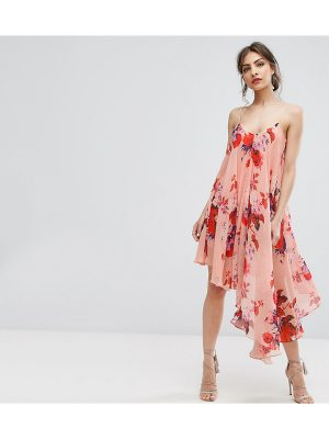 Hope and Ivy Hope & Ivy Asymmetric Cami Dress In Oversize Floral Print