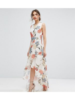 Hope and Ivy Hope & Ivy Floral Asymmetric Maxi Dress With Ruffles