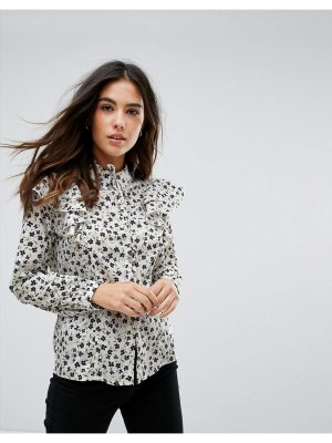 Influence Floral Blouse With Ruffle Detail