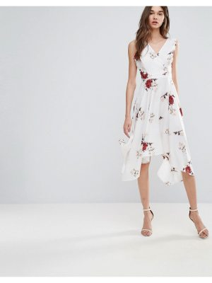 Influence Floral Wrap Front Dress
