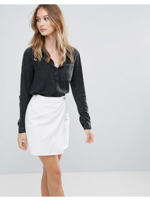 Influence Shirt With Embroidered Shoulder