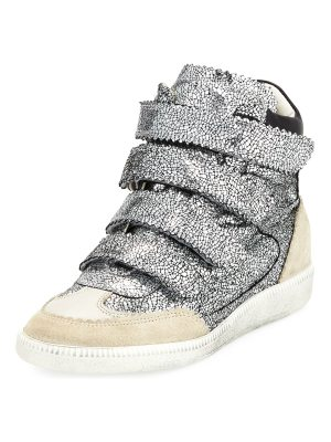 Isabel Marant Bilsy Crackled Multi-Strap Sneaker