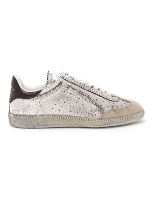Isabel Marant Bryce low-top cracked-leather trainers