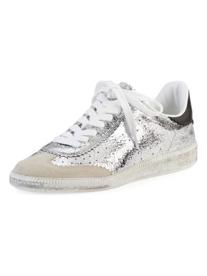 Isabel Marant Bryce Metallic Lace-Up Sneaker