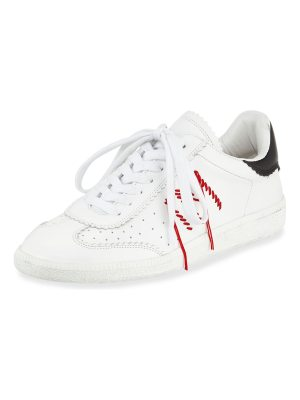 Isabel Marant Bryce Side-Stitch Low-Top Sneaker