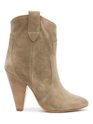 Etoile Isabel Marant Roxann Calfskin Velvet Leather Booties